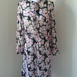 J.Crew Mercantile dress floral sheer ST
